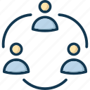 accounts, affiliate, agreement, alliance icon