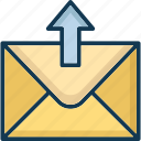 outbox, outgoing, sent mail, sent message icon