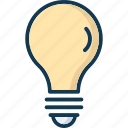 bulb, lamp, light, light bulb icon