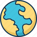 earth, global, globe, map icon