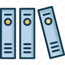 books, books shelf, bookshop, mini library icon