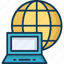 connected with internet, internet availability, internet connectivity icon
