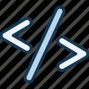 code, coding, css, div icon