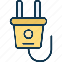 electrical plug, plug, plug in, power icon