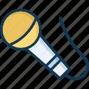 loud, mic, microphone, recording icon