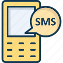 messages, mobile, sms, text icon