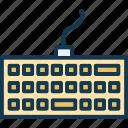 computer, keyboard, technology, type icon