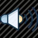 high volume, loudspeaker, volume, volume up icon