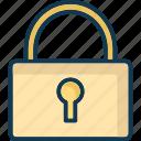 closed, key, locked, password icon