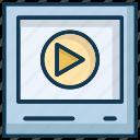 movie, multimedia, storage, video icon