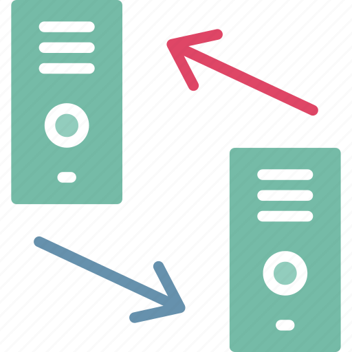 pc, server share, sharing, tower pc icon