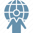 agent, global communication, tourism, travel icon