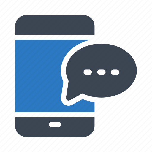 bubble, cell, message, mobile, phone icon