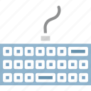 computer, keyboard, technology, type icon