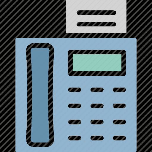 fax, fax machine, photocopier, printer icon