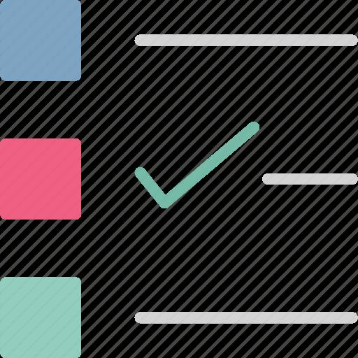 checkbox, checklist, organizer, to-do icon