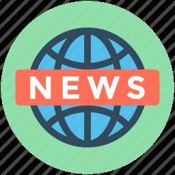 live broadcasting, live news, media, news, worldwide news icon