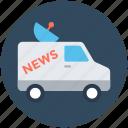 news van, ob truck, ob van, outside broadcasting, satellite truck