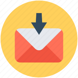 email, inbox, incoming mail, mailbox, new email icon