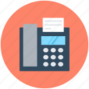 digital phone, fax machine, landline, phone, telephone icon