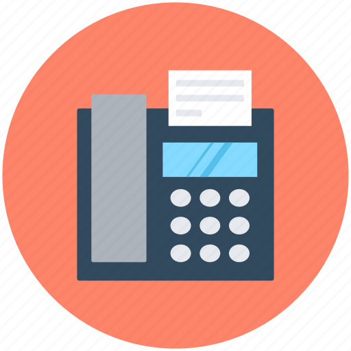 digital phone, fax machine, landline, phone, telephone icon