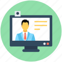 monitor, video call, video chat, video conference, voice chatting