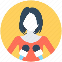 journalist, news reporter, profession, tv reporter, woman avatar icon