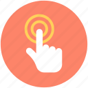 click, finger click, finger tap, hand gesture, touchscreen