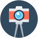 camera, digital camera, photography, photoshoot, tripod camera icon