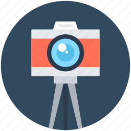camera, digital camera, photography, photoshoot, tripod camera icon
