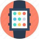 digital wristwatch, handwatch, smart watch, timer, wristwatch icon