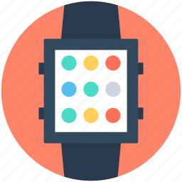 digital wristwatch, handwatch, smart watch, timer, wristwatch icon