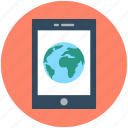 globe, internet connection, mobile, mobile data, mobile internet icon