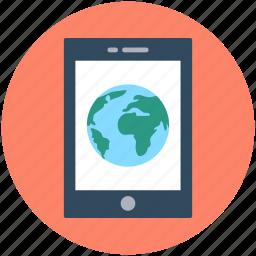 globe, internet connection, mobile, mobile data, mobile internet icon