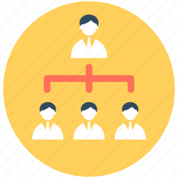 group, hierarchical structure, networking, people, team icon