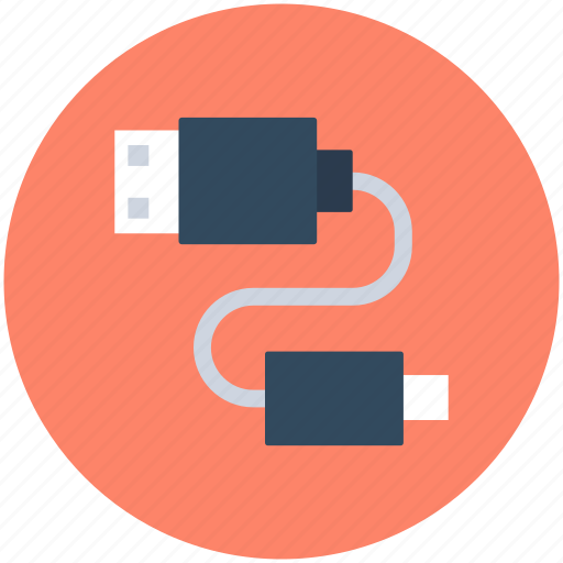 micro usb, usb cable, usb connector, usb cord, usb wire icon