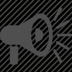 horn, loud, megaphone, speaker, volume icon