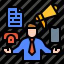 avatar, business, communication, effective, man icon