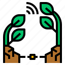 communication, plant, tree, wave icon