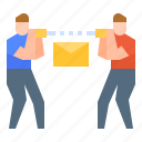 data, mail, message, tranfer, tranmission icon