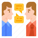 communication, contact, conversation, verbal icon
