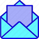 communication, email, envelope, letter, mail, message, open