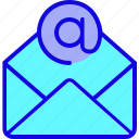 communication, email, envelope, letter, mail, open, post icon