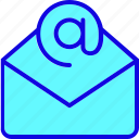 communication, email, envelope, inbox, mail, message, open icon