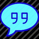 bubble, chat, comment, communication, message, speech, talk icon