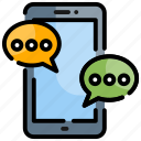 communication, connection, mobile icon