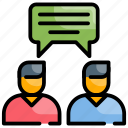 conversation, gossip, reply