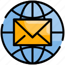 communication, email, global, mail, message
