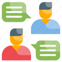 communication, conversation, dialogue icon