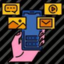 application, communication, media, mobile, smartphone, software